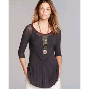 Free People Weekends Layering Tunic Top Size XS